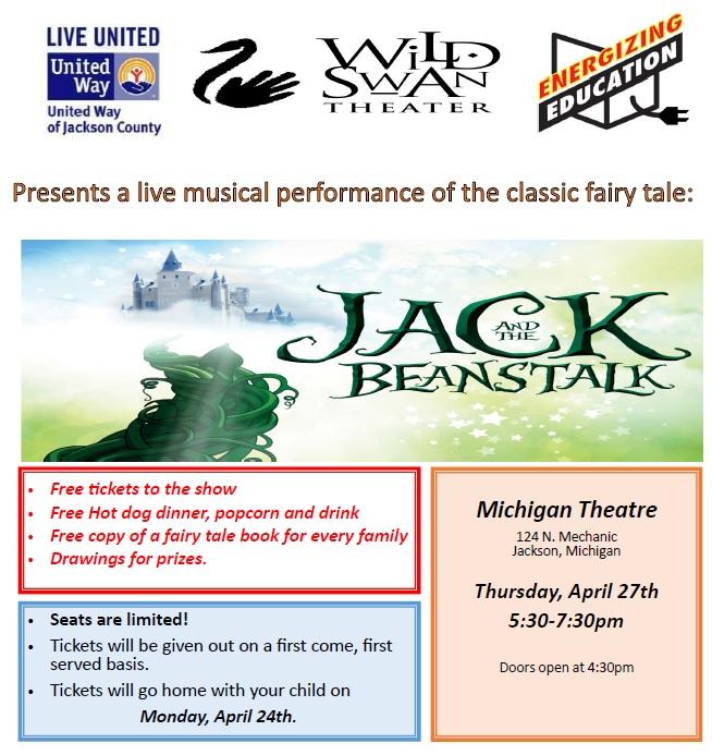 Energizing Education All-School Family Night @ Michigan Theatre | Jackson | Michigan | United States